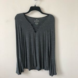 American Eagle Striped Soft & Sexy Top- Size XS